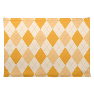 Trendy Placemat Retro Retro yellow argyle