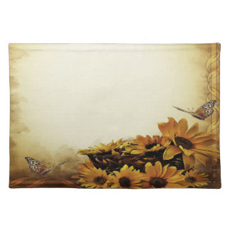 Trendy Placemat yellow butterfly sunflower