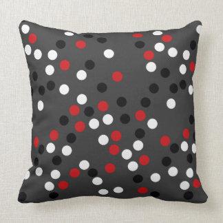 trendy polka dots throw pillow
