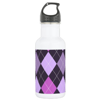 Trendy Purple Argyle 532 Ml Water Bottle