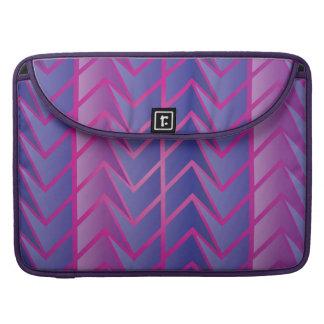 Trendy purple geometric Pattern Sleeve For MacBooks
