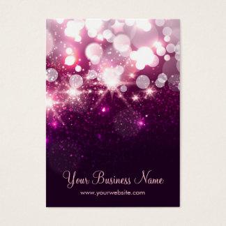 Trendy Purple Glitter Sparkle Earring Cards