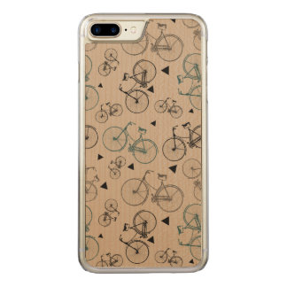 Trendy Retro Style Bicycles Pattern Carved iPhone 8 Plus/7 Plus Case