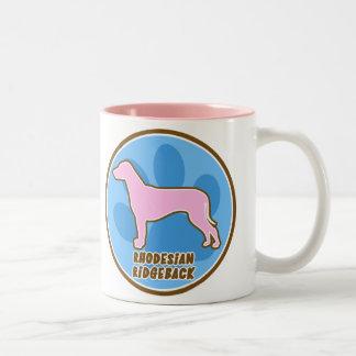 Trendy Rhodesian Ridgeback Two-Tone Coffee Mug