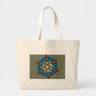 Trendy Sari design Large Tote Bag