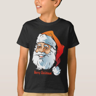 Trendy Smiling Santa Merry Christmas T-Shirt