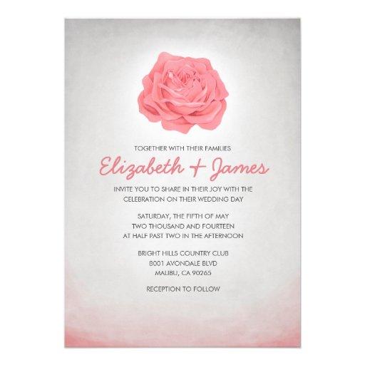 Trendy Vintage Floral Wedding Invitations Invites