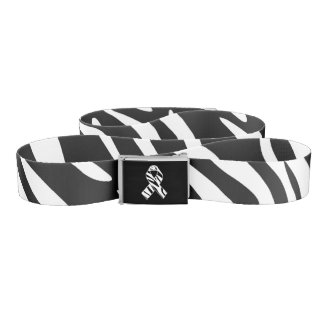 Trendy Zebra Print Zebra Awareness Ribbon Belt