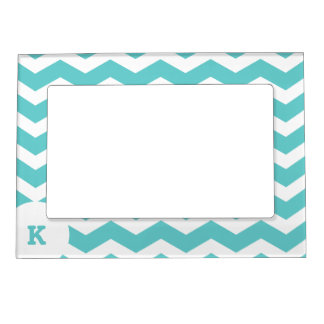 Trendy ZigZag Pattern with Monogram Magnetic Picture Frame