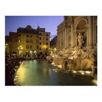 Trevi Fountain at night, Rome, Lazio, Italy Postcard