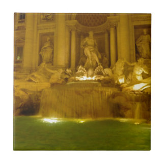 Trevi Fountain evening Tile