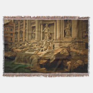 Trevi fountain painting Rome