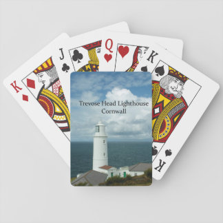 Trevose Head Lighthouse Cornwall England Playing Cards