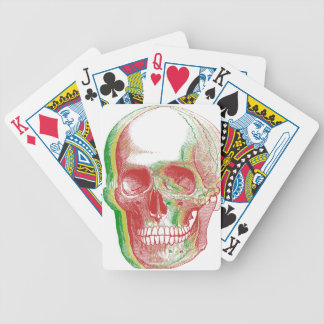 Tri-color Rasta Skull Bicycle Playing Cards