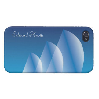 Tri-Sail Translucent Blue Sky personalized iPhone 4/4S Cases