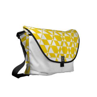 Triagonal Ivory (Gold) Messenger Bag