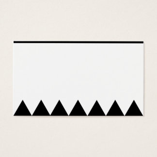 Triangle Minimalist Business Card