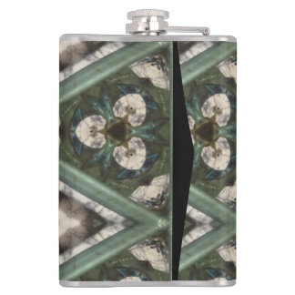 Triangle pattern hip flask