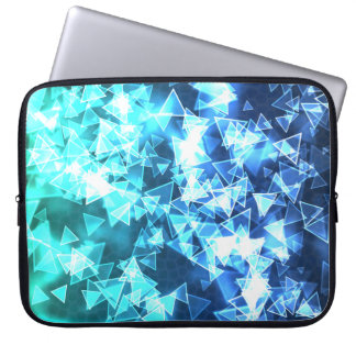 Triangles (blue/green) laptop computer sleeves