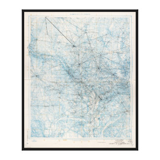 Triangulation Diagram, Washington D.C. (1962) Canvas Print