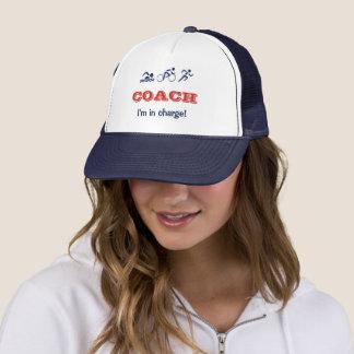 Triathlon coach fun custom name trucker hat