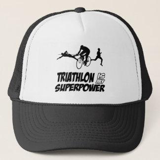 Triathlon designs trucker hat
