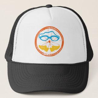 Triathlon fun design trucker hat