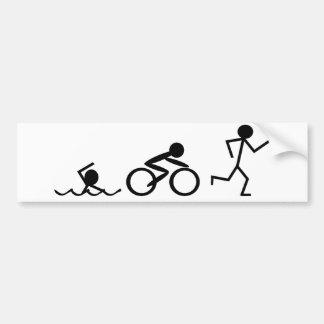 Triathlon Stick Figures Bumper Stickers