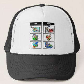 Triathlon vs. Sloth Trucker Hat