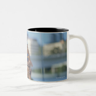 Triathloners Cycling 2 Two-Tone Coffee Mug