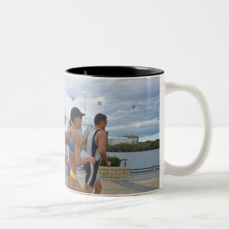 Triathloners Running 4 Two-Tone Coffee Mug