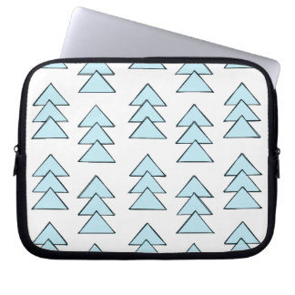 Tribal Arrow Triangles in Blue Laptop Computer Sleeve