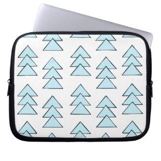 Tribal Arrow Triangles in Blue Laptop Sleeve