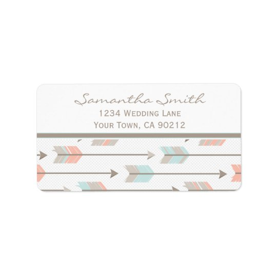 Tribal Arrows Label Address Label