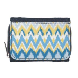 Tribal aztec chevron zig zag stripes ikat pattern wallet
