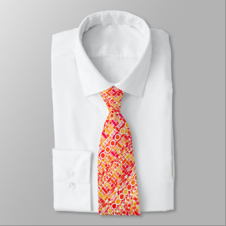 Tribal Batik - coral orange and coral pink Tie