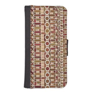 Tribal Batik - earth tone neutrals iPhone SE/5/5s Wallet Case