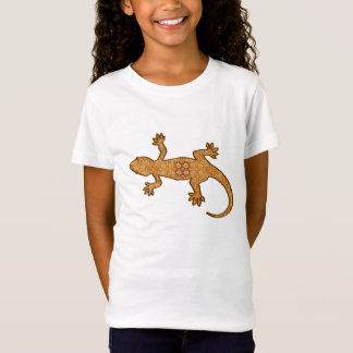 Tribal batik Gecko - rust, amber and tan T-Shirt