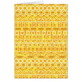Tribal Batik - mustard gold and orange Stationery Note Card