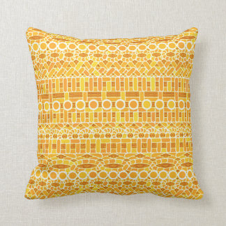 Tribal Batik - mustard gold and orange Pillow