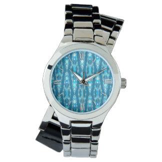 Tribal Batik - Ocean Blue and Aqua Watch
