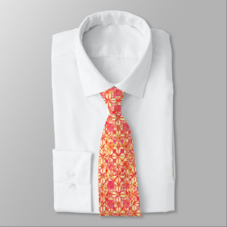 Tribal Batik - orange, coral pink and fuchsia Tie