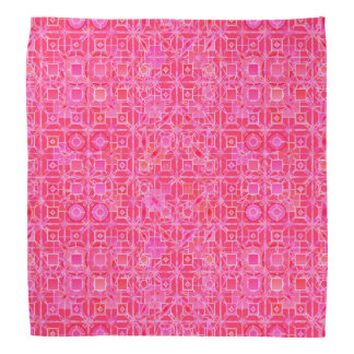 Tribal Batik - shades of fuchsia pink Bandana