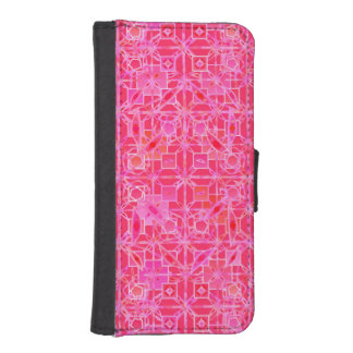 Tribal Batik - shades of fuchsia pink iPhone SE/5/5s Wallet Case