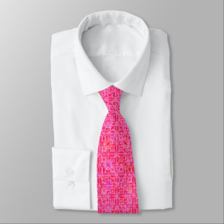 Tribal Batik - shades of fuchsia pink Tie