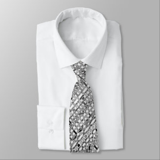 Tribal Batik - shades of grey / gray Tie