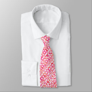 Tribal Batik - shades of pink and coral Tie