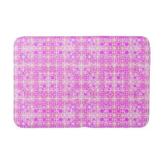 Tribal Batik - shades of pink and orchid Bath Mat