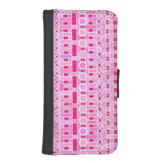 Tribal Batik - shades of pink iPhone SE/5/5s Wallet Case