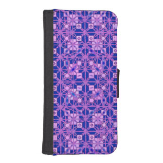 Tribal Batik - shades of purple iPhone SE/5/5s Wallet Case